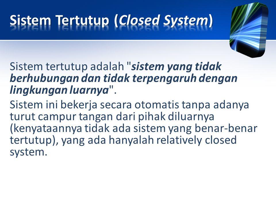 Sistem Tertutup (Closed System)