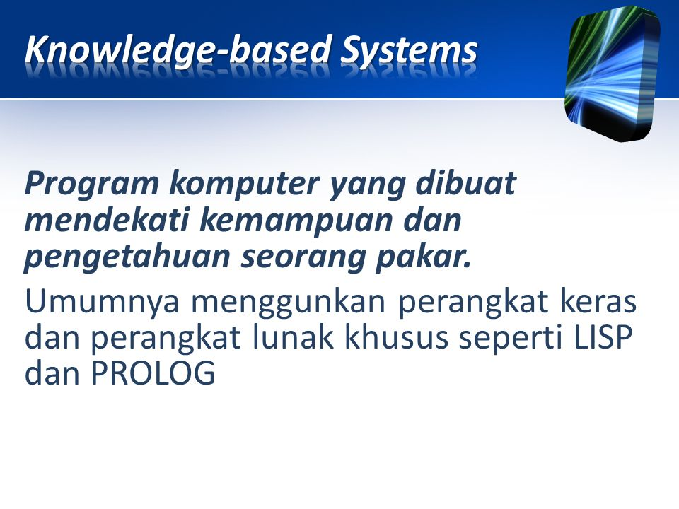 Knowledge-based Systems