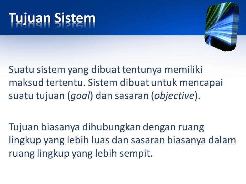 Tujuan Sistem