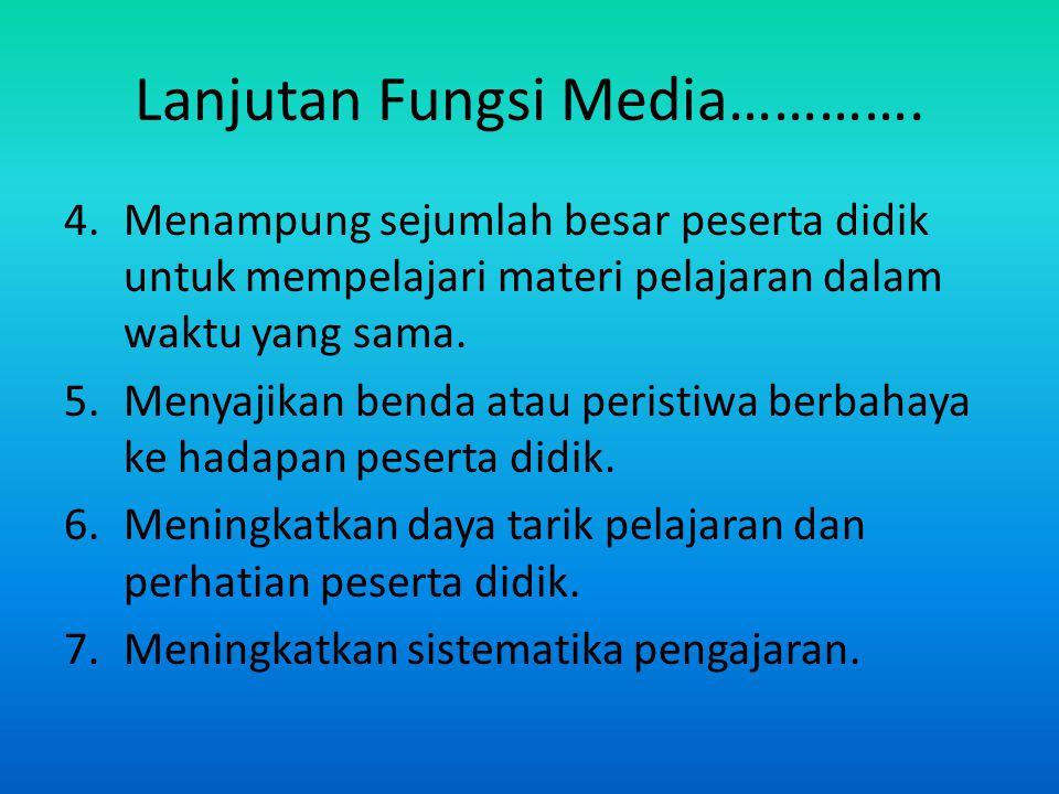 Lanjutan Fungsi Media………….