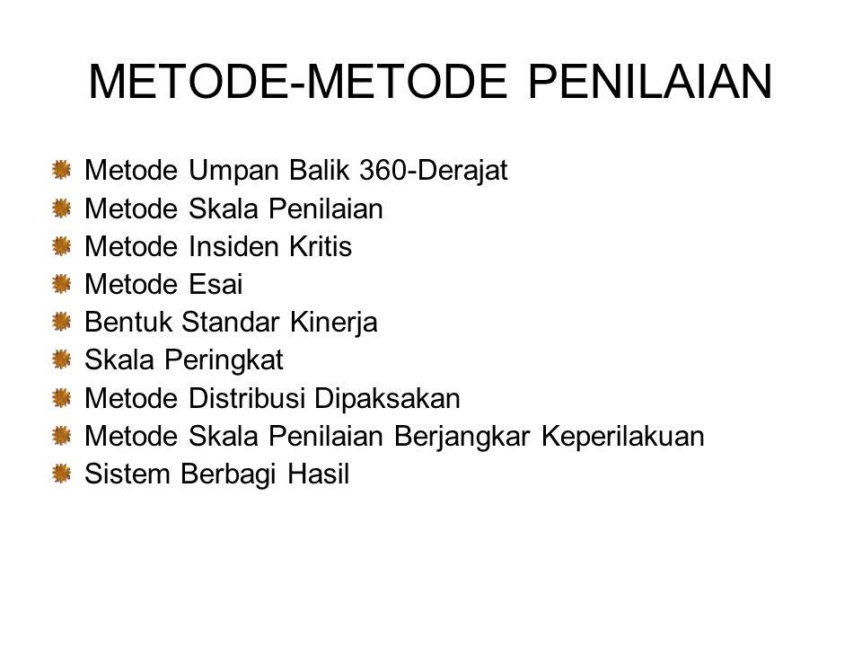 METODE-METODE PENILAIAN