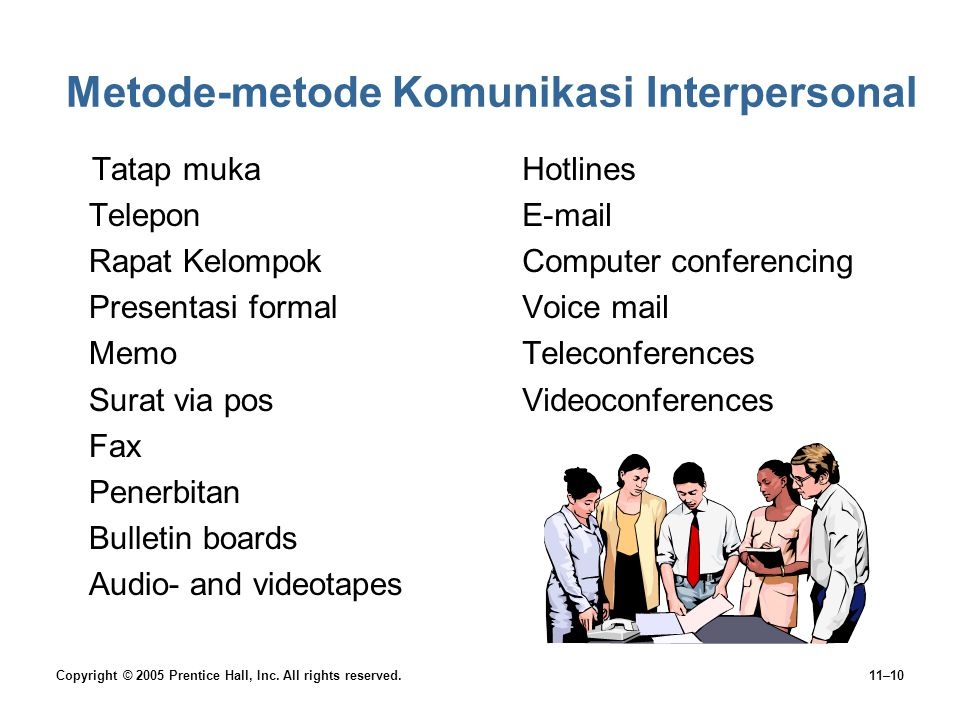 Metode-metode Komunikasi Interpersonal