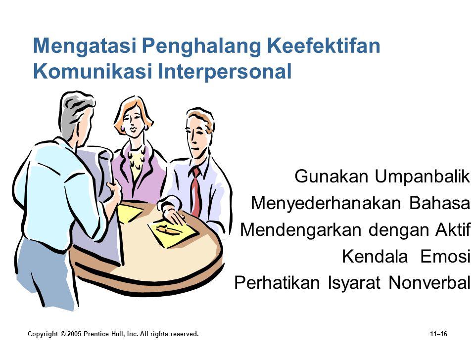 Mengatasi Penghalang Keefektifan Komunikasi Interpersonal
