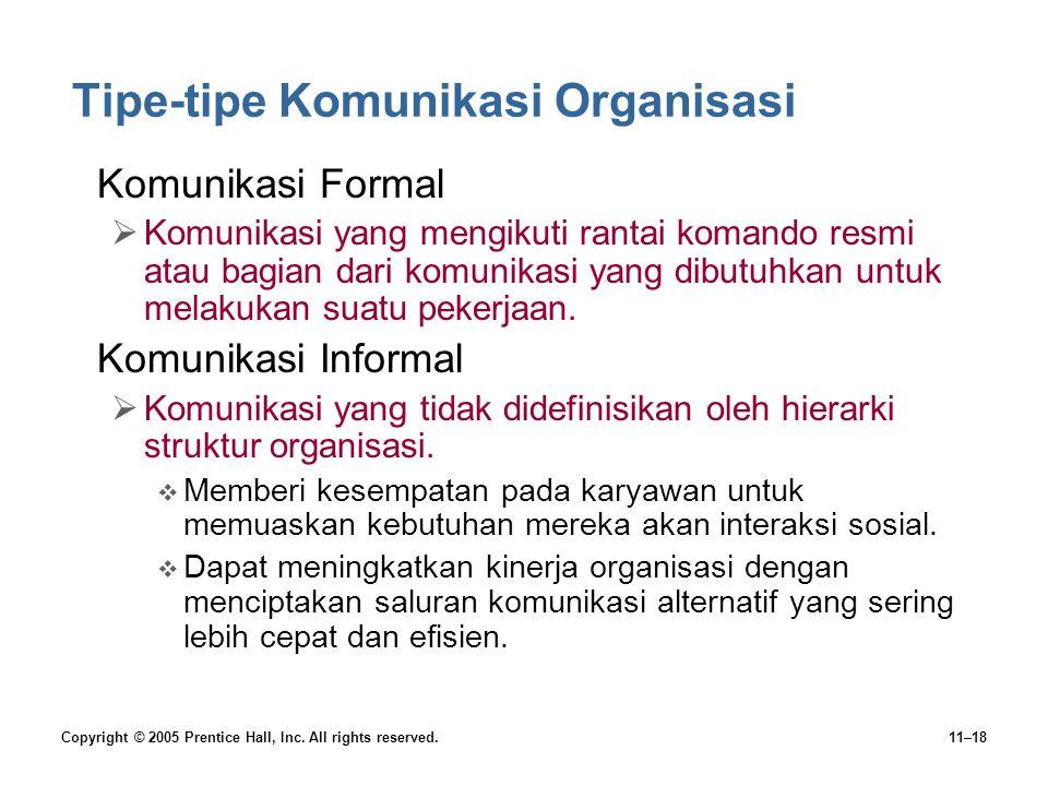 Tipe-tipe Komunikasi Organisasi