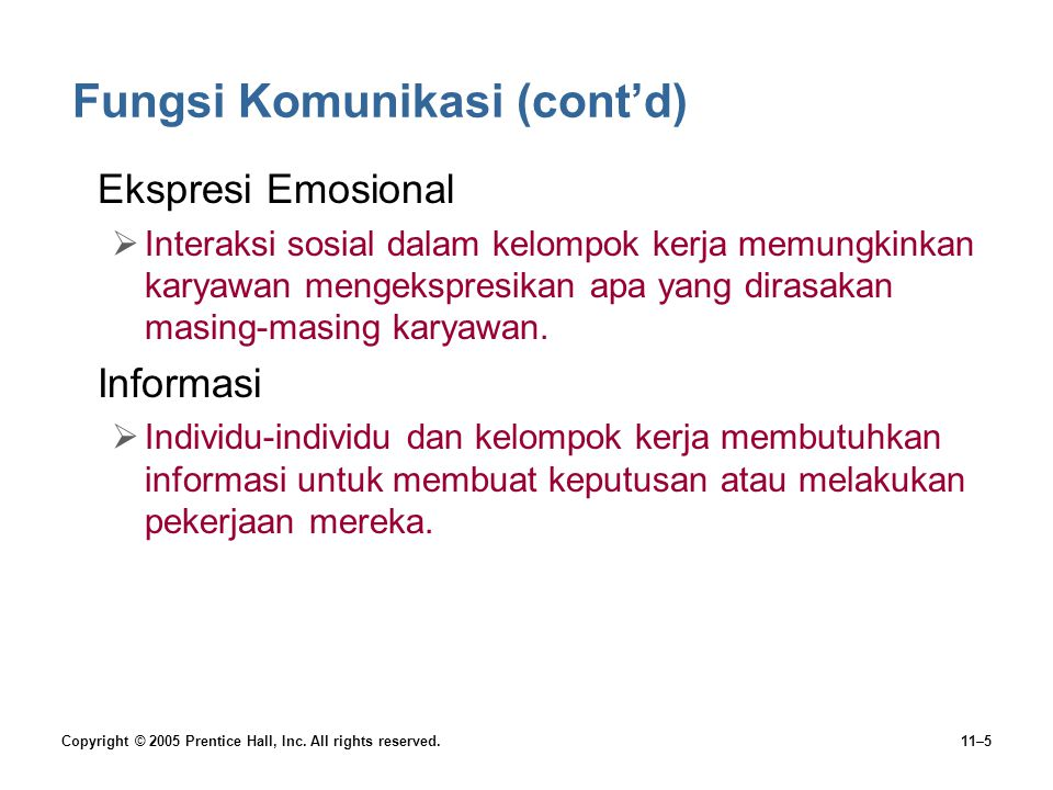 Fungsi Komunikasi (cont'd)