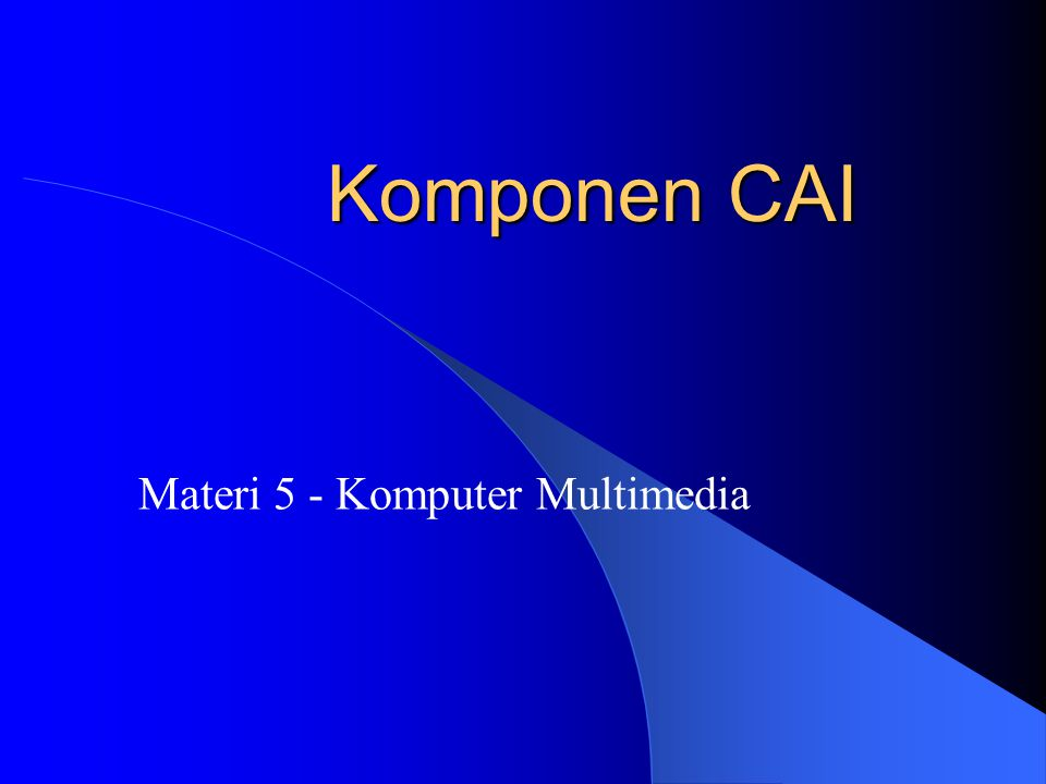 Materi 5 - Komputer Multimedia