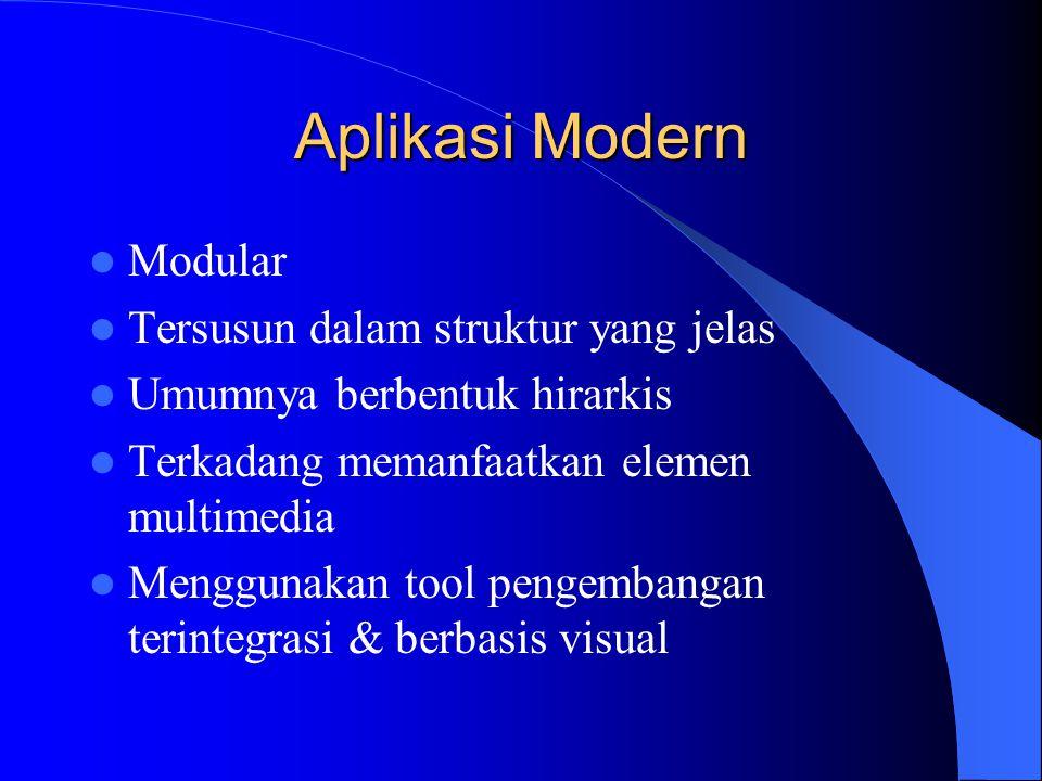 Aplikasi Modern Modular Tersusun dalam struktur yang jelas