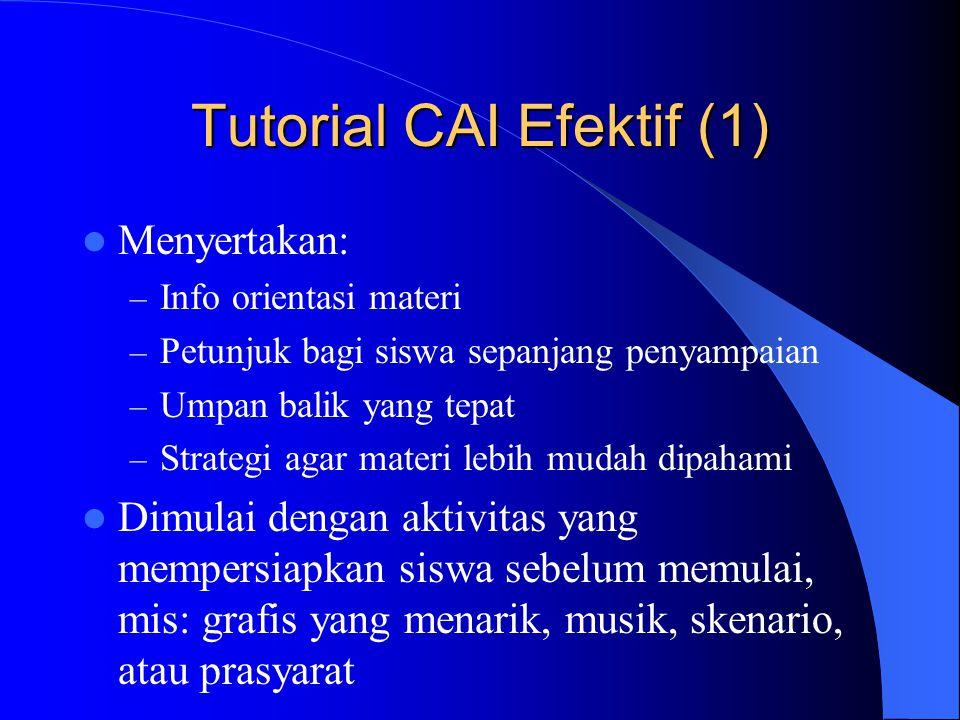Tutorial CAI Efektif (1)
