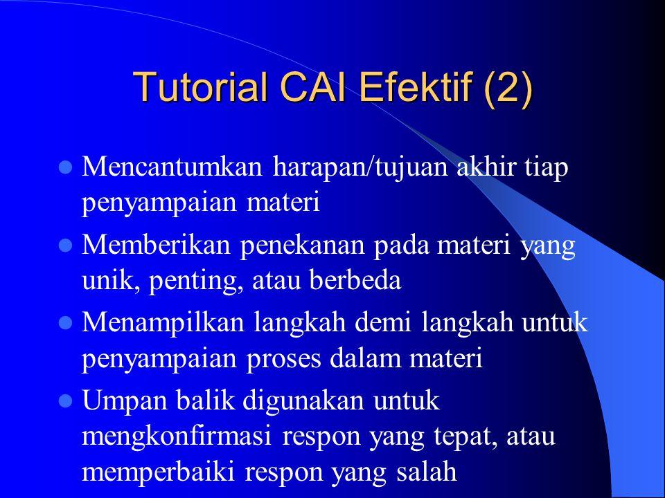 Tutorial CAI Efektif (2)