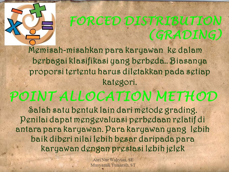 FORCED DISTRIBUTION (GRADING)