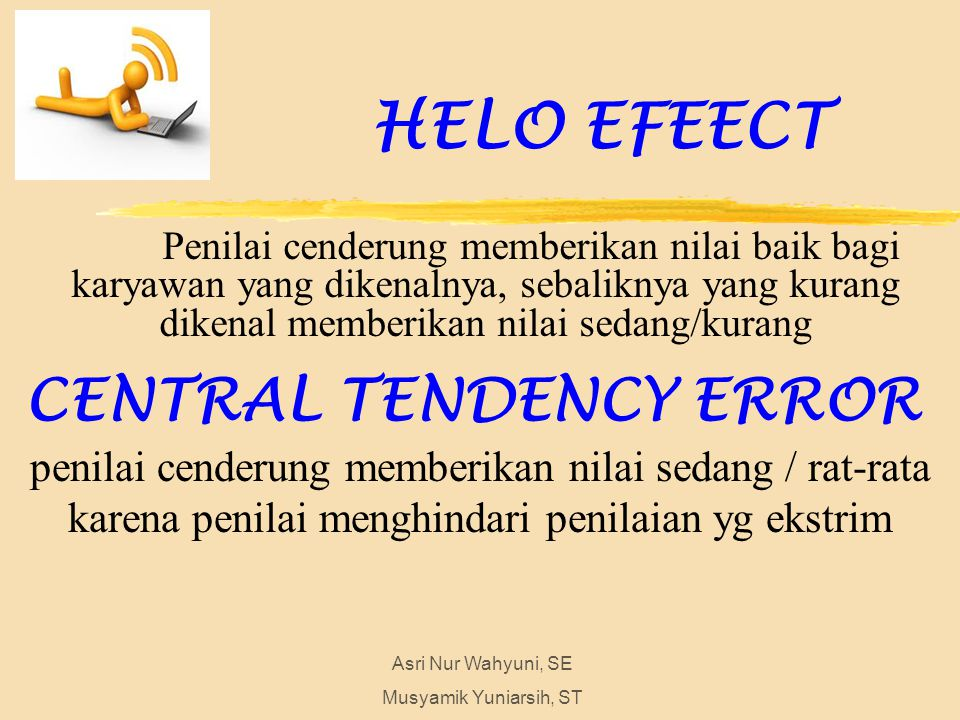HELO EFEECT CENTRAL TENDENCY ERROR