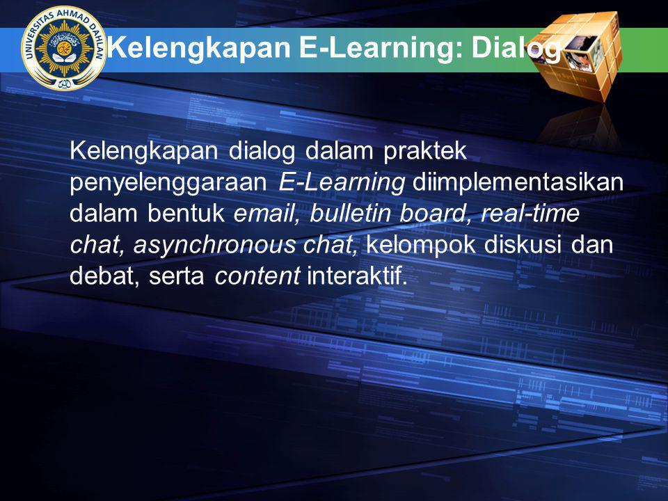 Kelengkapan E-Learning: Dialog