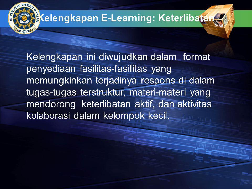 Kelengkapan E-Learning: Keterlibatan