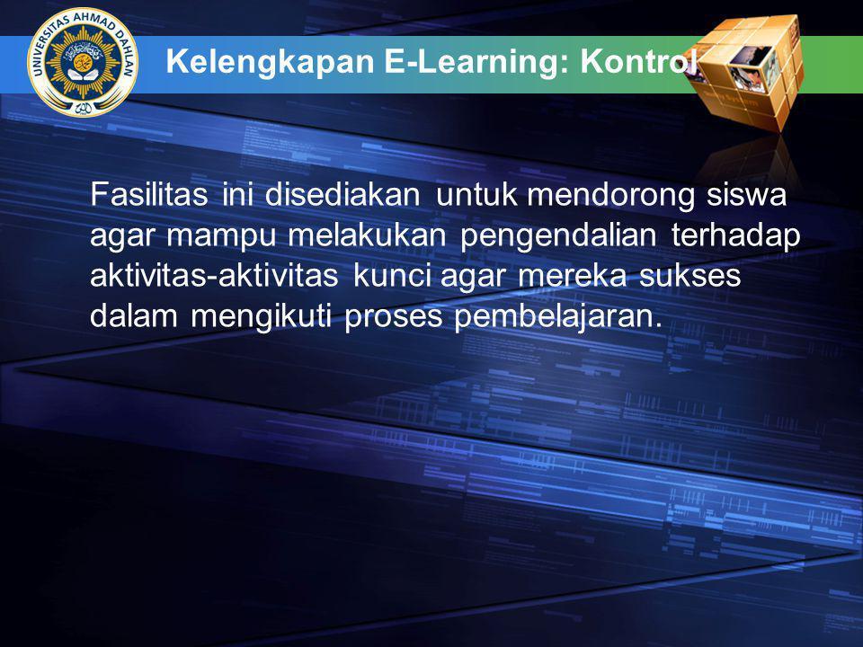 Kelengkapan E-Learning: Kontrol