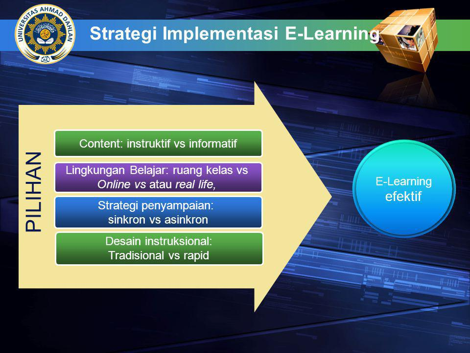Strategi Implementasi E-Learning