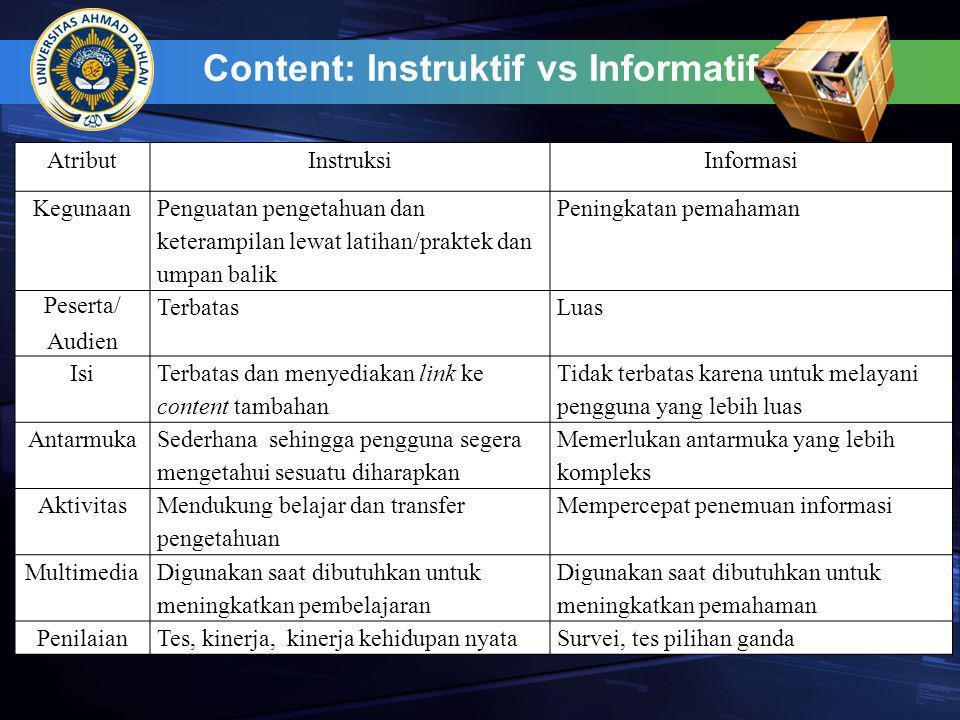 Content: Instruktif vs Informatif