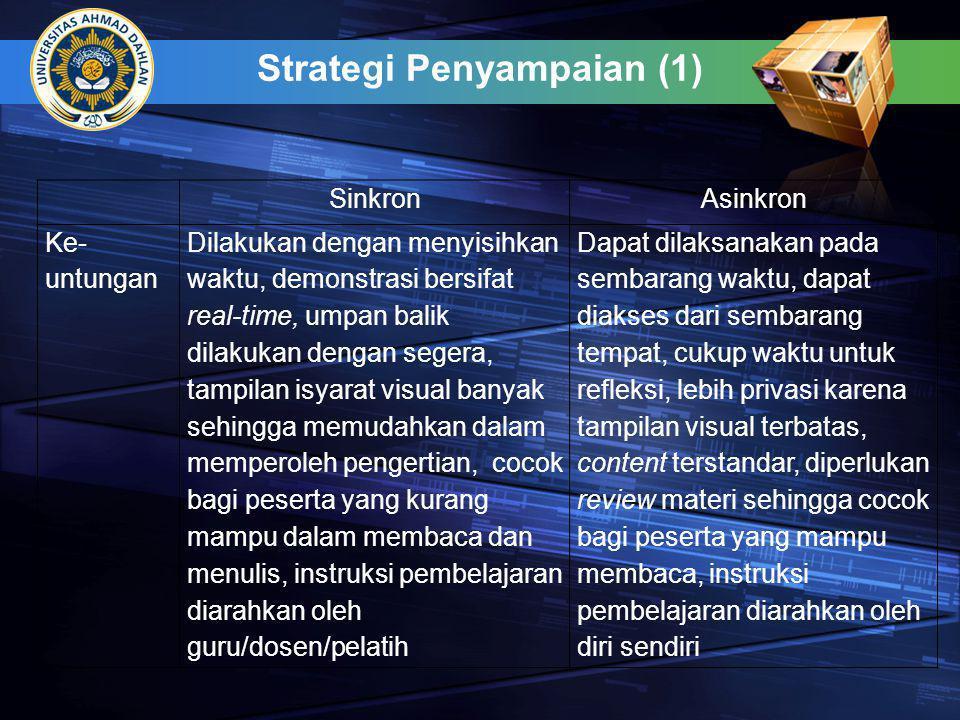 Strategi Penyampaian (1)