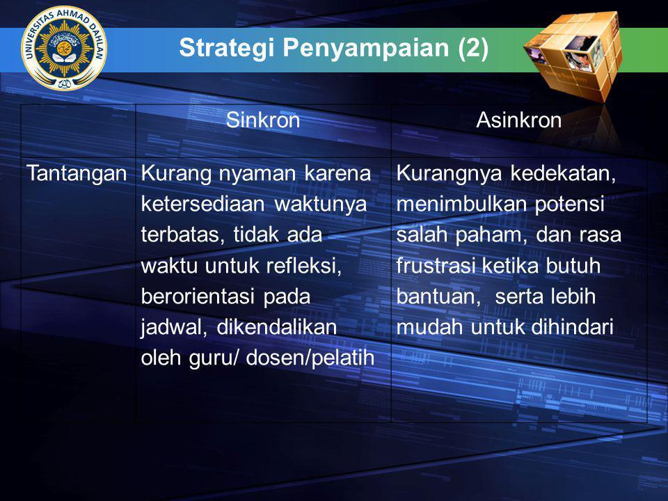 Strategi Penyampaian (2)