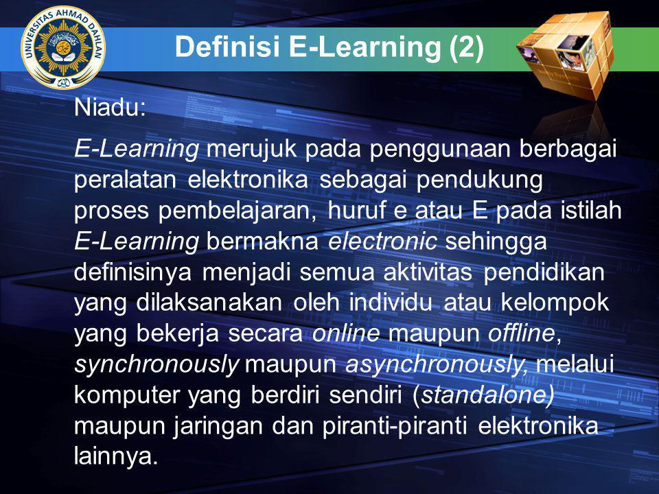 Definisi E-Learning (2)