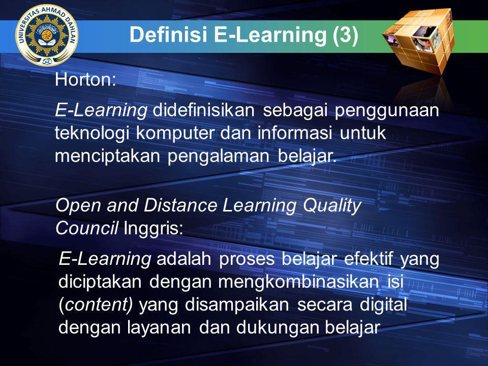 Definisi E-Learning (3)