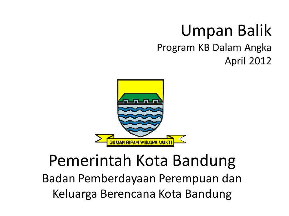 Umpan Balik Program KB Dalam Angka April 2012