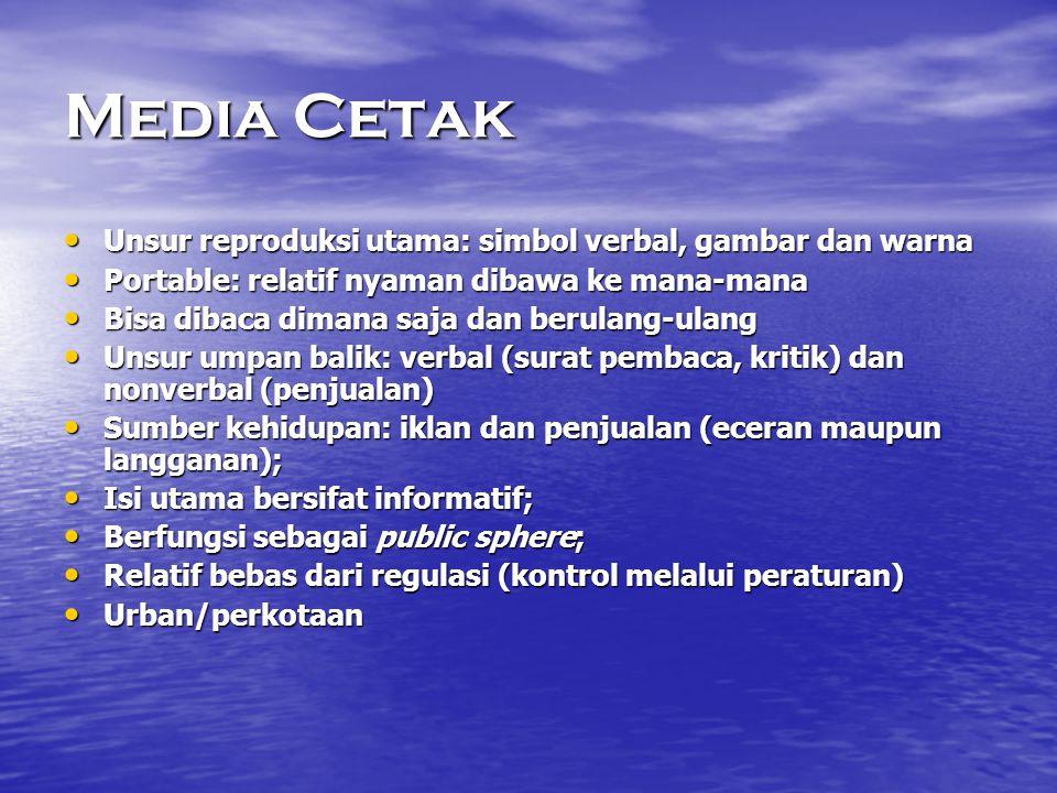 Media Cetak Unsur reproduksi utama: simbol verbal, gambar dan warna