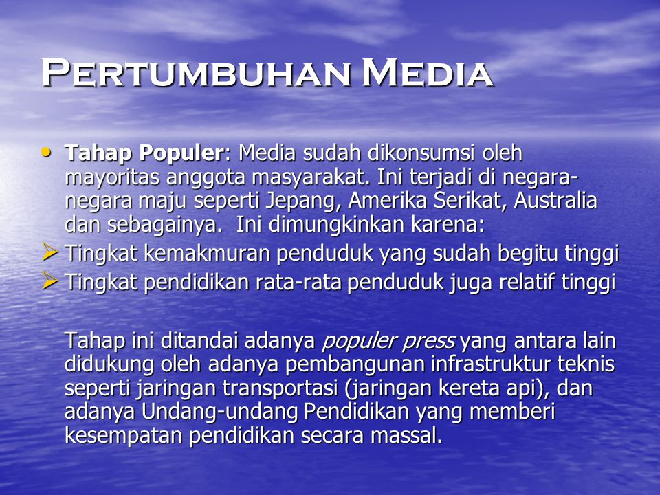 Pertumbuhan Media