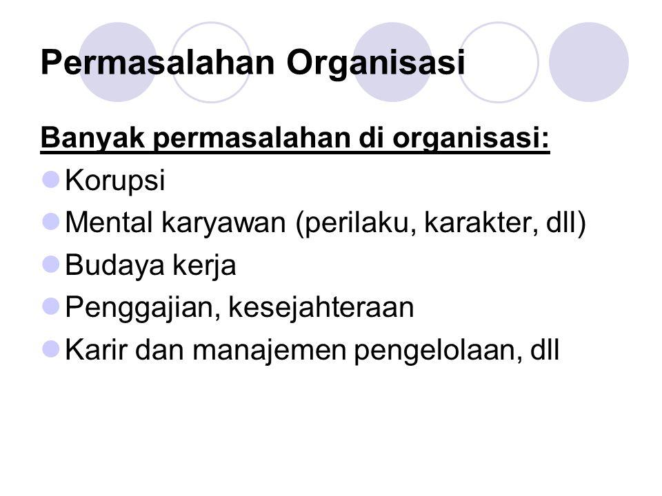 Permasalahan Organisasi