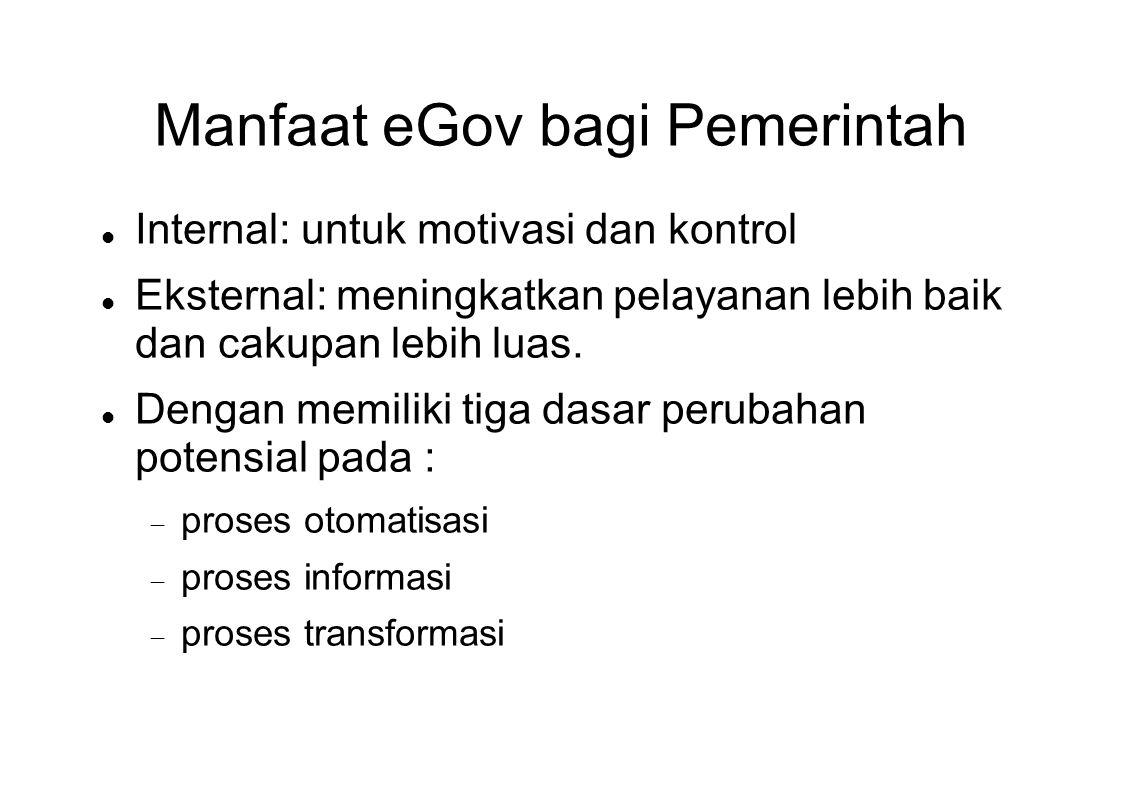 Manfaat eGov bagi Pemerintah
