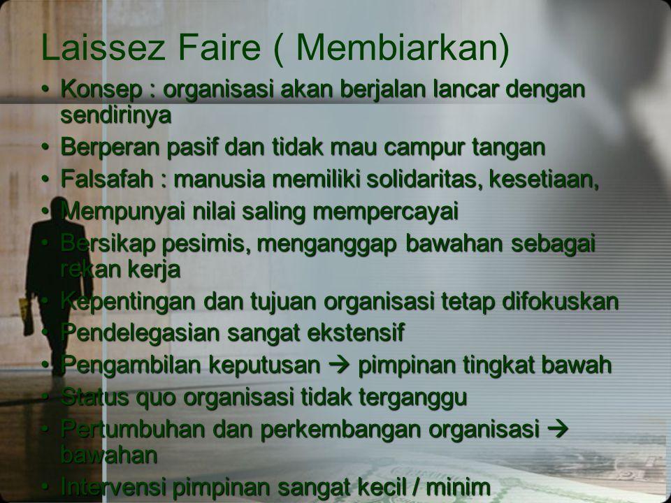 Laissez Faire ( Membiarkan)