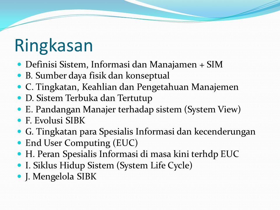 Ringkasan Definisi Sistem, Informasi dan Manajamen + SIM