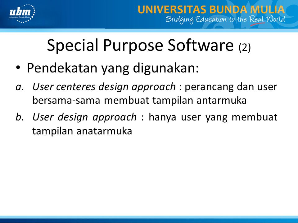 Special Purpose Software (2)