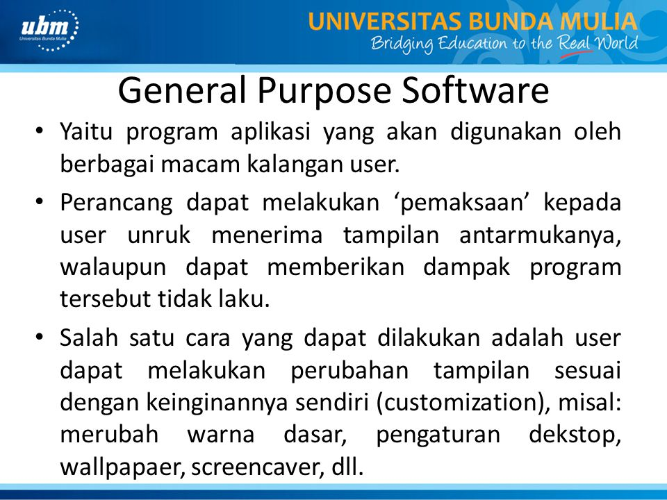 General Purpose Software