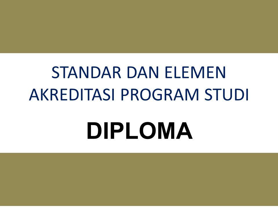 STANDAR DAN ELEMEN AKREDITASI PROGRAM STUDI