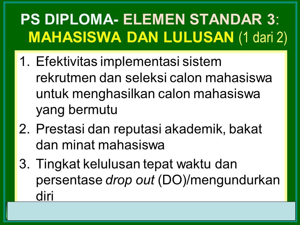 PS DIPLOMA- ELEMEN STANDAR 3: mahasiswa dan Lulusan (1 dari 2)