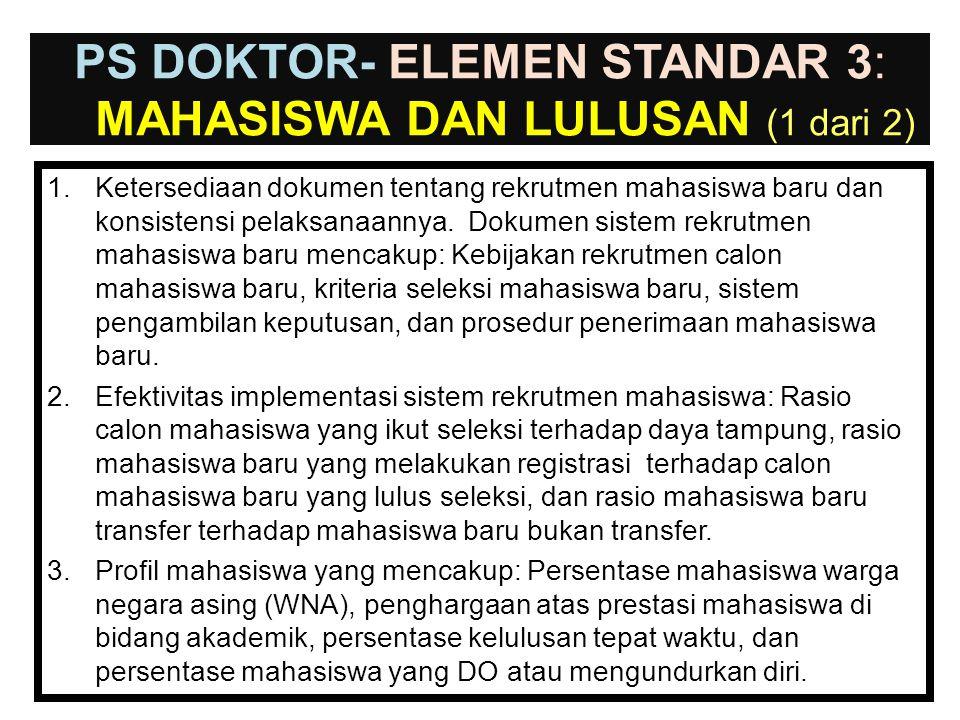 PS DOKTOR- ELEMEN STANDAR 3: mahasiswa dan Lulusan (1 dari 2)