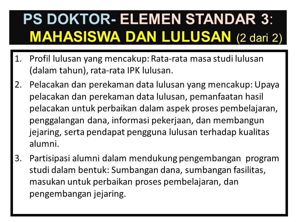 PS DOKTOR- ELEMEN STANDAR 3: mahasiswa dan Lulusan (2 dari 2)