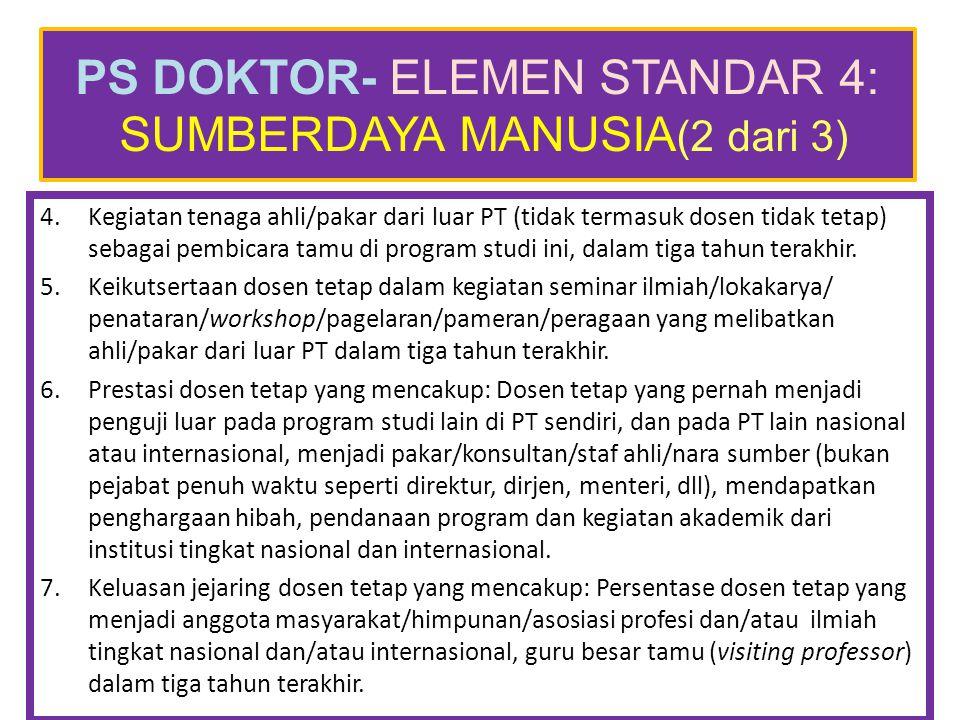 PS DOKTOR- ELEMEN STANDAR 4: SUMBERDAYA MANUSIA(2 dari 3)