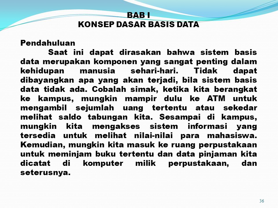 KONSEP DASAR BASIS DATA