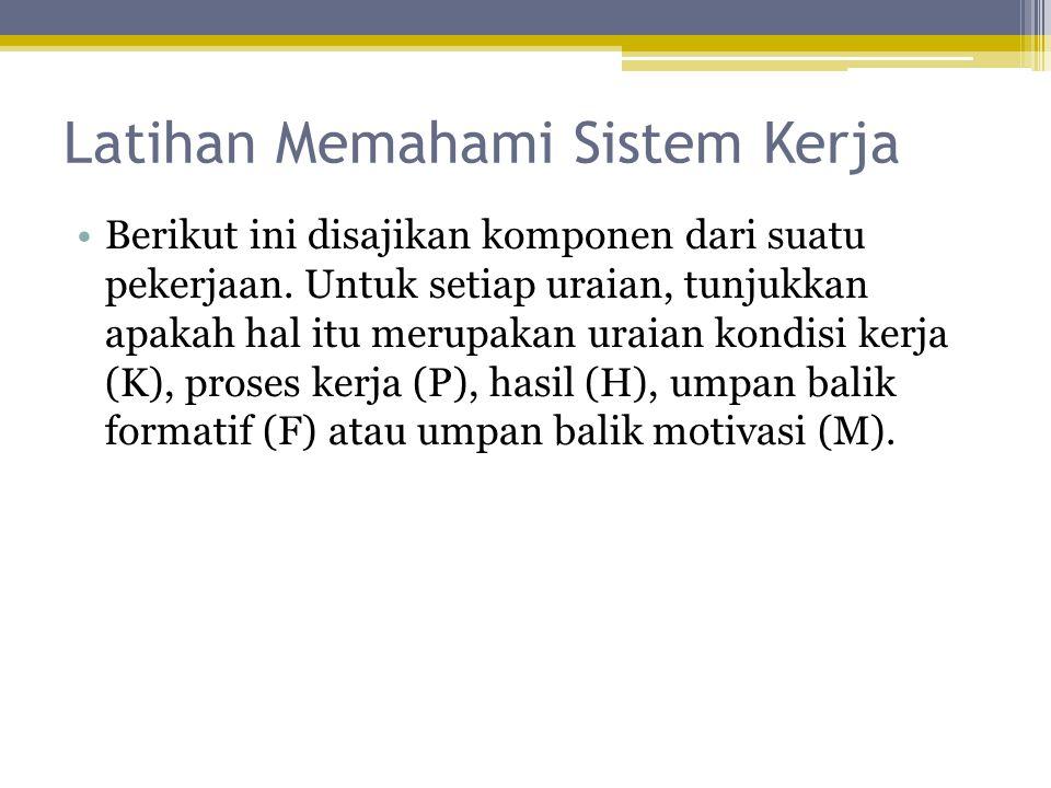 Latihan Memahami Sistem Kerja