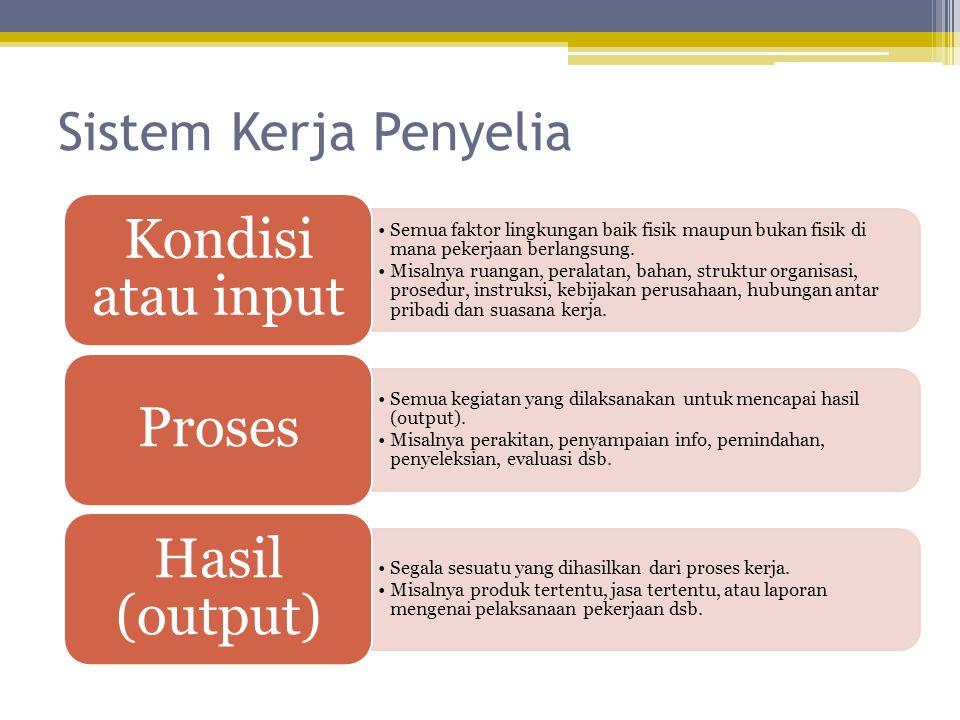 Sistem Kerja Penyelia Kondisi atau input