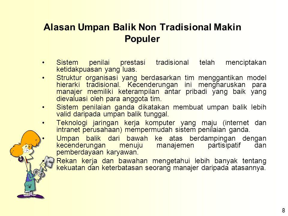 Alasan Umpan Balik Non Tradisional Makin Populer