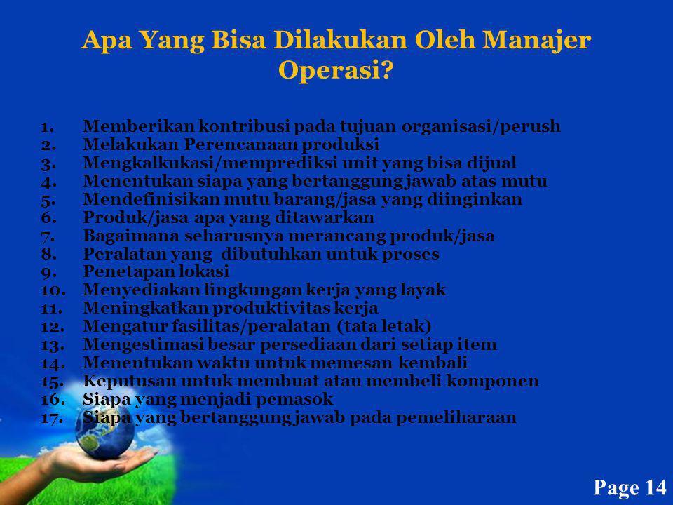 Apa Yang Bisa Dilakukan Oleh Manajer Operasi