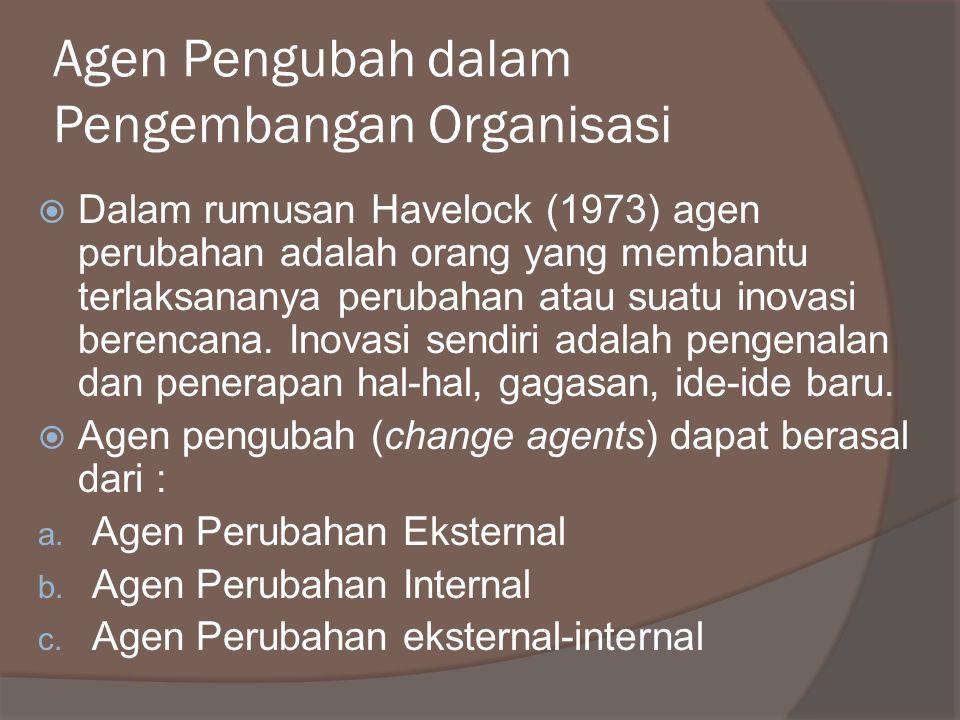 Agen Pengubah dalam Pengembangan Organisasi