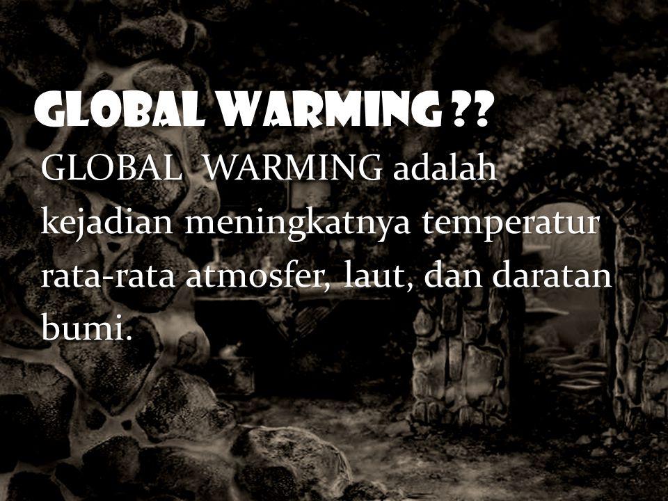 GLOBAL WARMING .