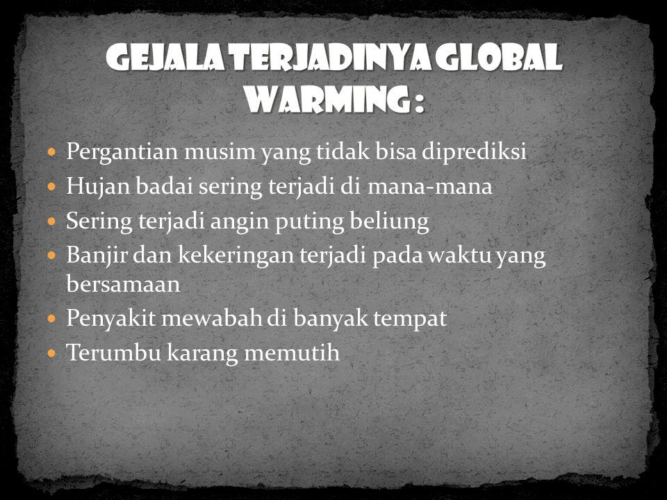 Gejala terjadinya global warming :