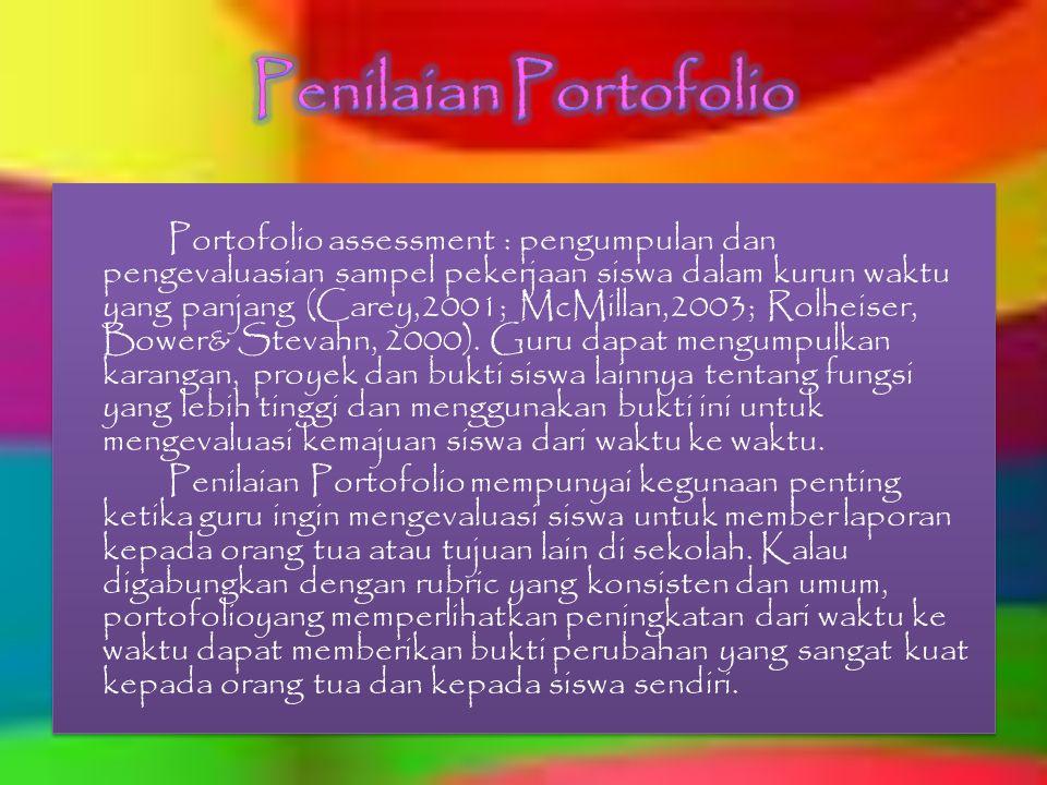 Penilaian Portofolio