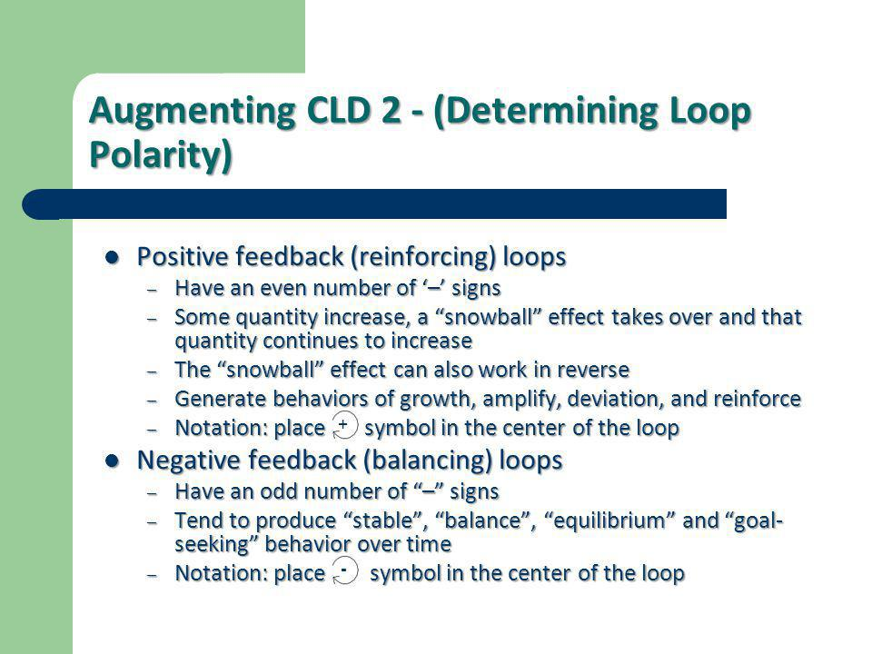 Augmenting CLD 2 - (Determining Loop Polarity)