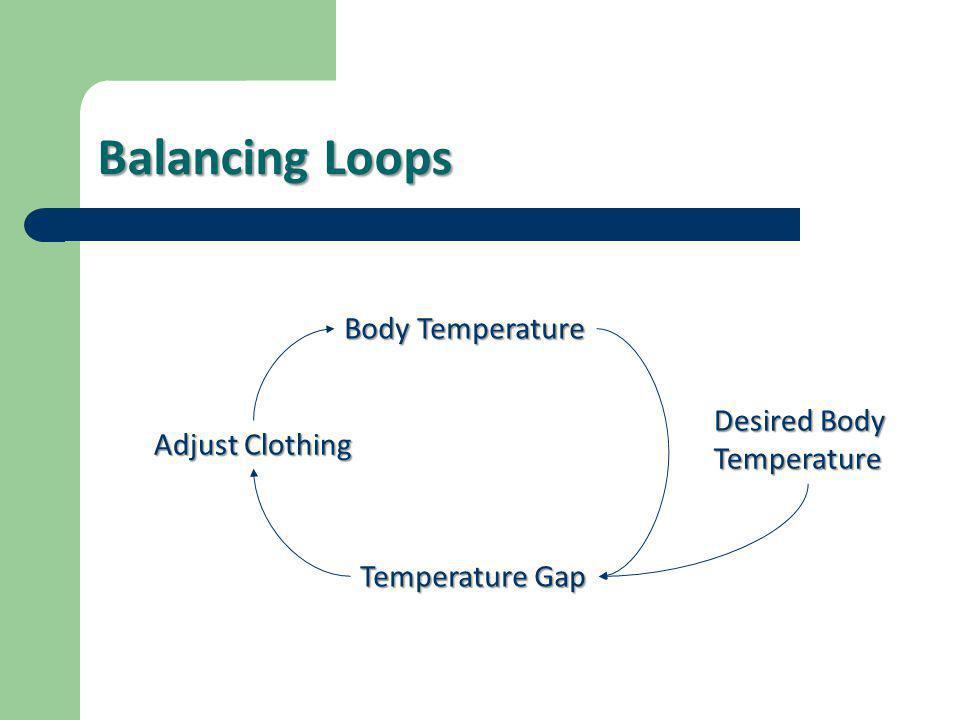 Balancing Loops Body Temperature Desired Body Temperature