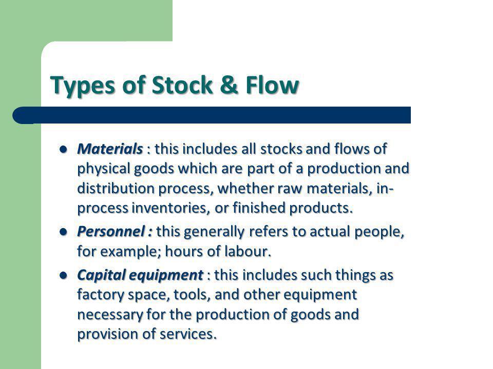 Types of Stock & Flow